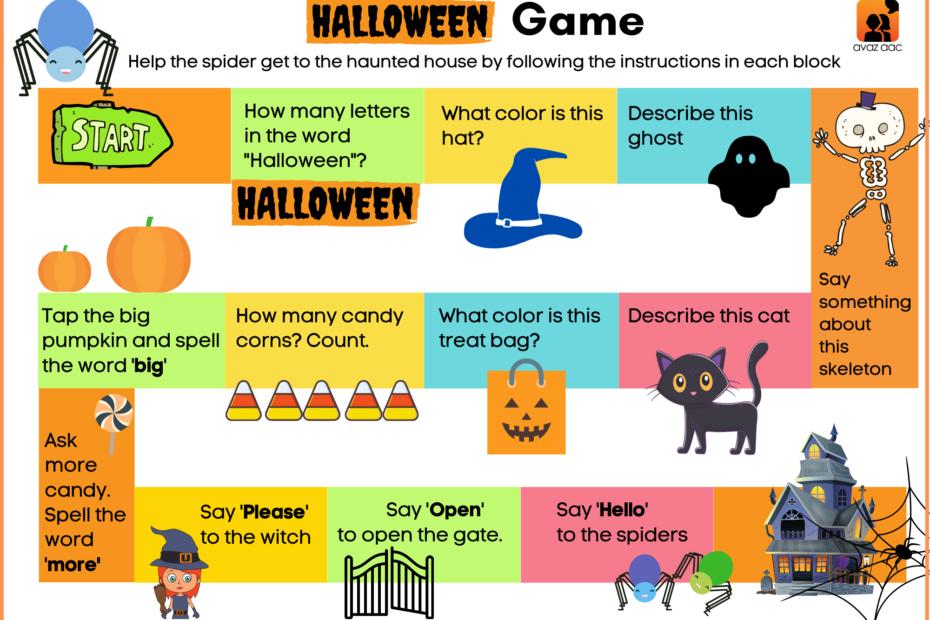 Halloween AAC Board Game